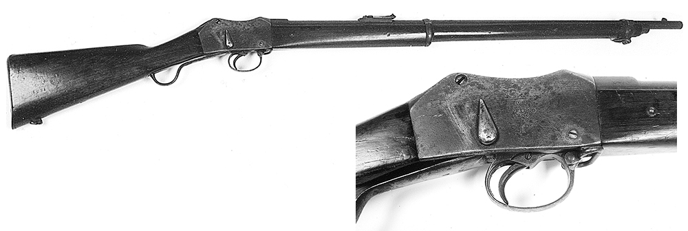 A .45 calibre Martini Henry rifle believed to have been used by a policeman at the siege of Glenrowan. This was the standard police longarm.