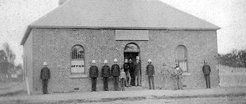 Euroa's National Bank, a building rented from the local blacksmith, was the scene of the Kelly Gang's first hold-up. Image: National Australia Bank Heritage Collection