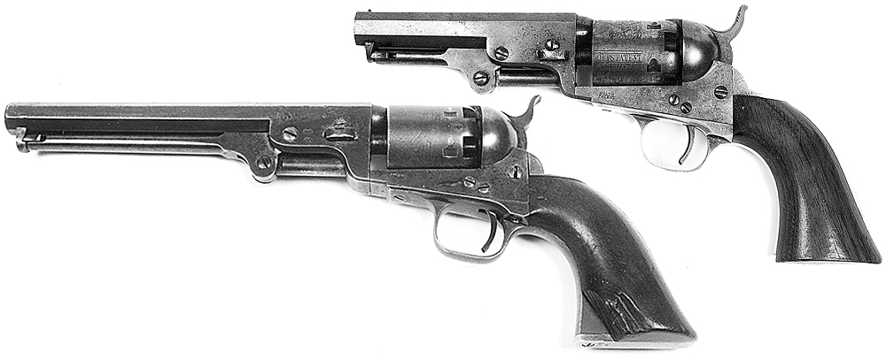Ned Kelly's .36 calibre Colt Navy revolver had been taken from Senior Constable Devine during the Jerilderie hold-up. When Ned fell at the end of his Last Stand, it was wrenched from his hand by a heroic railway guard, Jesse Dowsett. The .31 calibre pocket Colt revolver is like one used by Ned at the beginning of his Last Stand. Once its five shots were fired, he was unable to re-load.